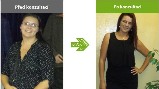 Míša v 26 letech vážila přes 100 kg. Úpravou jídelníčku shodila 22 kg.