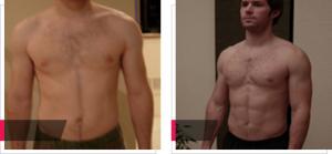Lukáš, 1 měsíc s GH Balance, fotka před a po