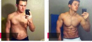 Šimon, fotky před a po užívání GH Balance