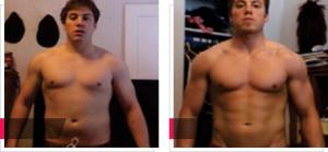 Martin, fotky před/po užití GH Balance 4 týdny