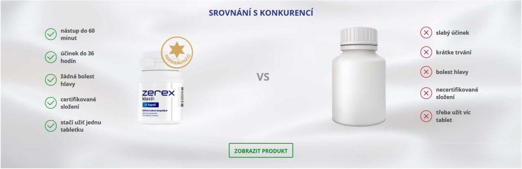 srovnání tablet na erekci Zerex a konkurence