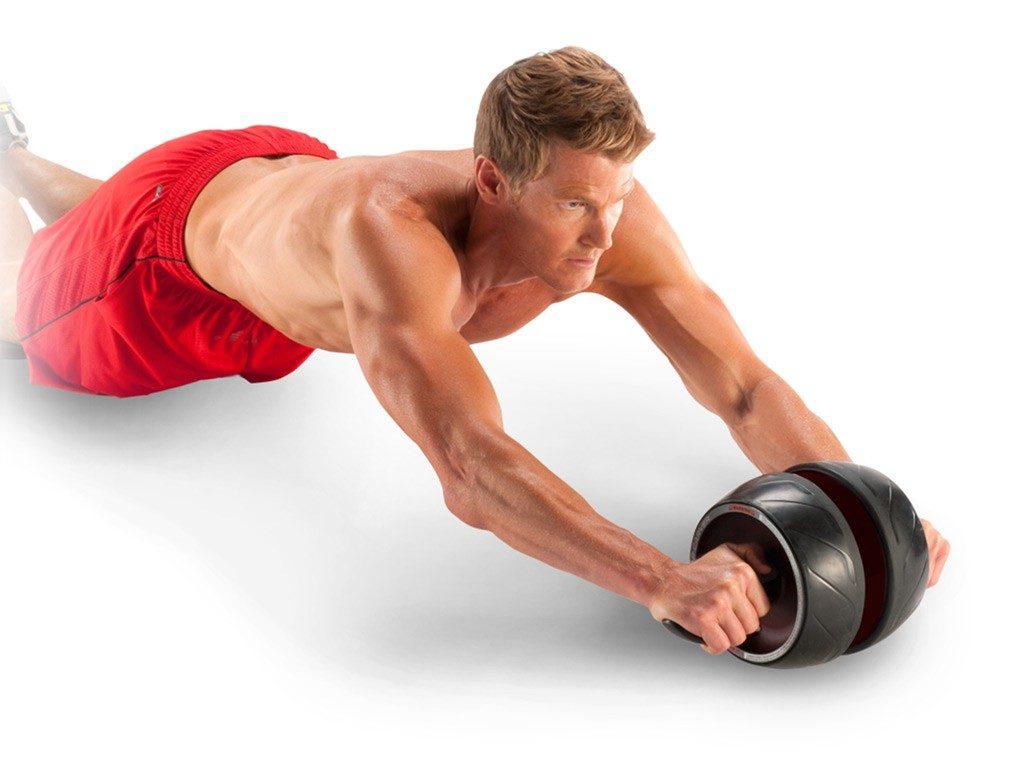 Válec na posilování břišních svalů Perfect Ab-Carver Pro - muž