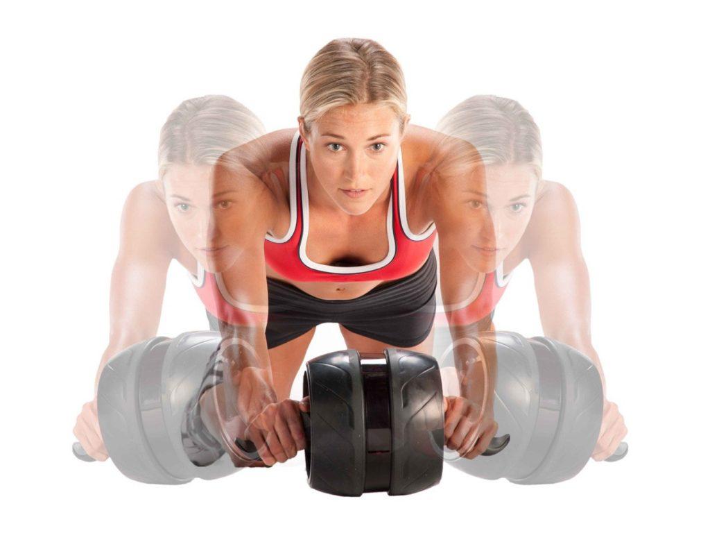 Válec na posilování břišních svalů Perfect Ab-Carver Pro - pohyb