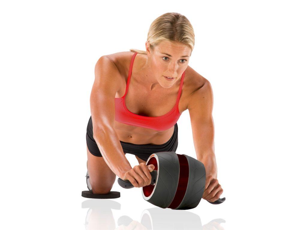 Válec na posilování břišních svalů Perfect Ab-Carver Pro - žena