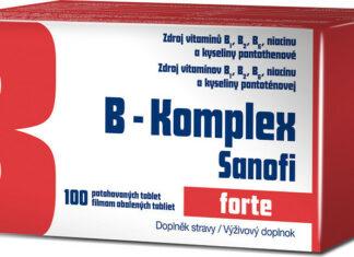 B-komplex forte Sanofi por.tbl.flm.100 GLASS - balení 3 ks