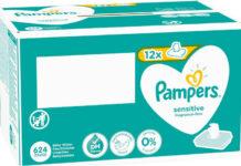 Pampers ubrousky Sensitive 12x52ks