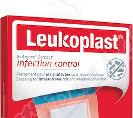 Leukoplast Leukomed Sorbact antim.krytí 8x10cm 3ks