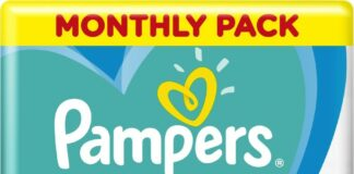 Pampers Active Baby Pleny 6 15+ kg Monthly Pack 124 ks